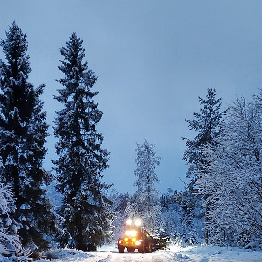 Talvikunnossapito, lumityöt, lumen auraus